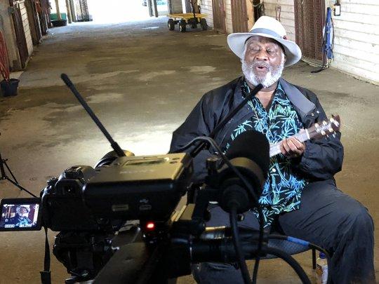Blues musician Taj Mahal performs