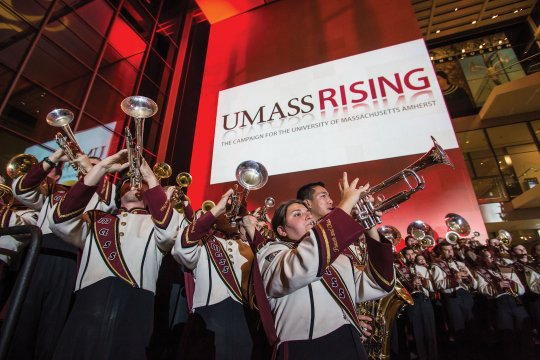 UMass's Minuteman Marching Band.
