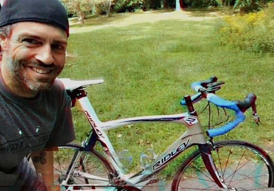Man shown with bike