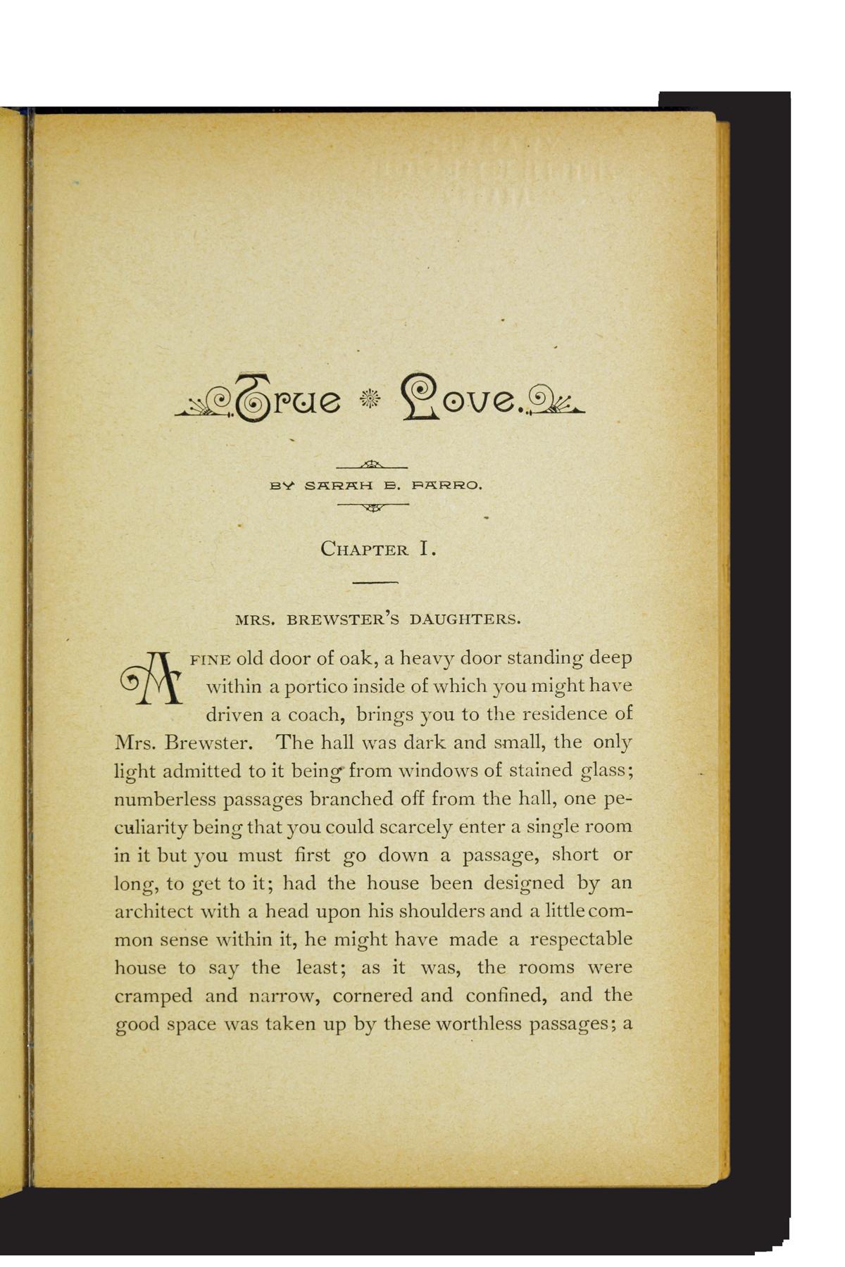 True Love book page Sarah E. Farro