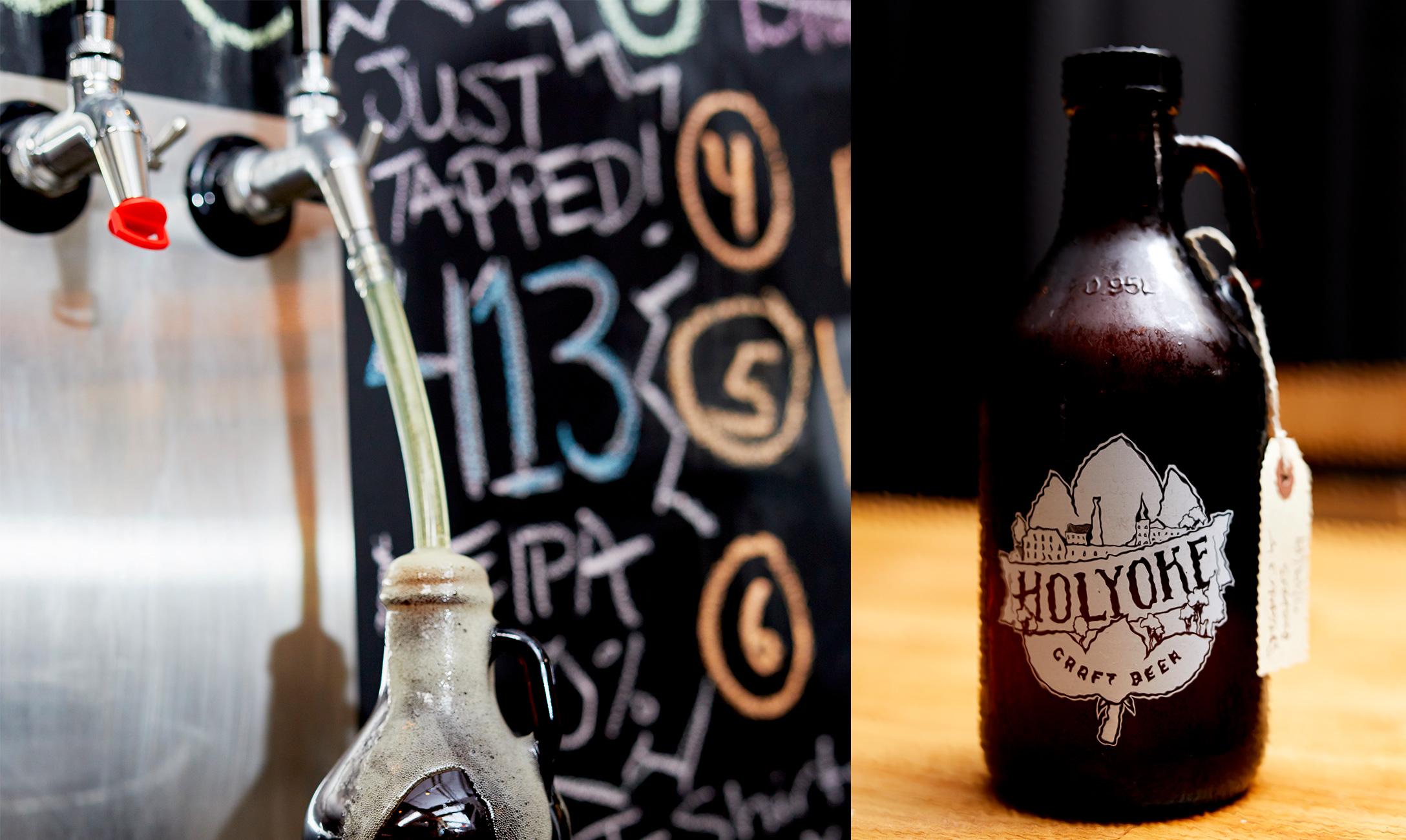 Beer growlers side by side