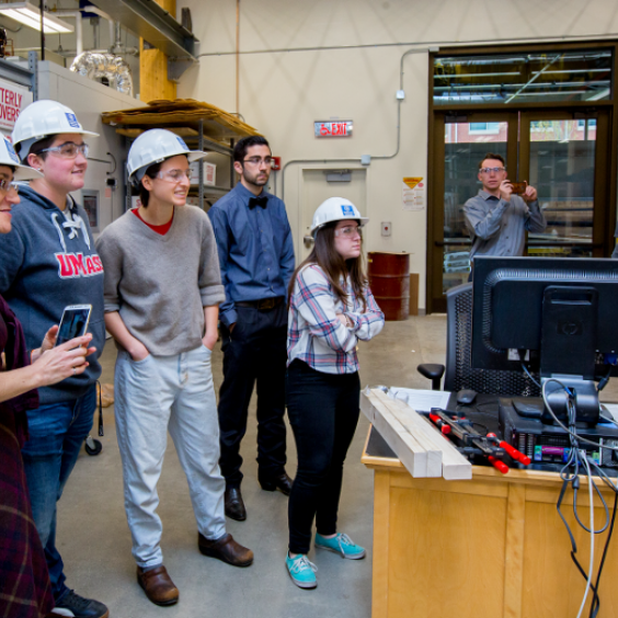 UMass Amherst Building and Construction Technology students