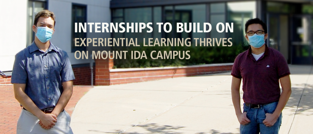 UMass Amherst building and construction tech students make Mount Ida Campus a better place.