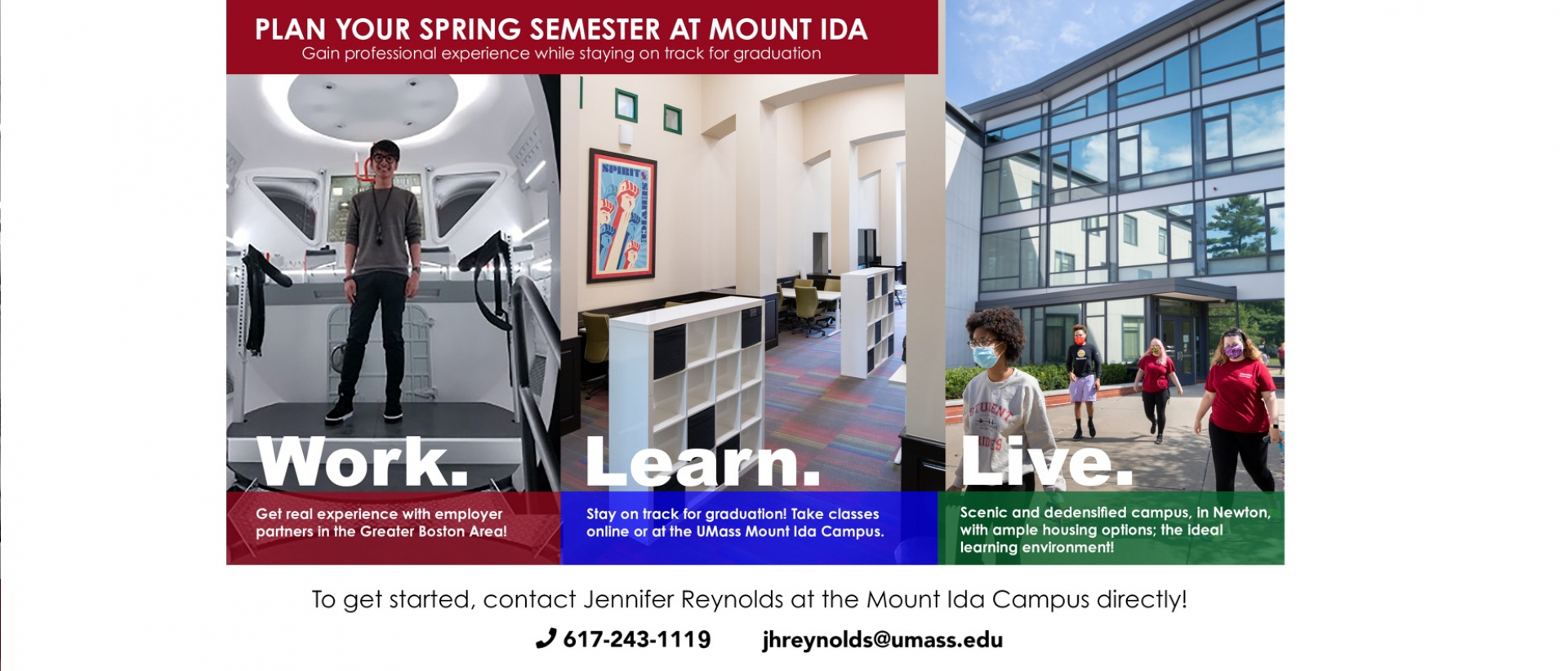 Plan your Spring Semester at Mount Ida - Gain professional experience while staying on track for graduation.
