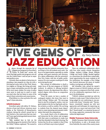 UMass Jazz Program Lauded as