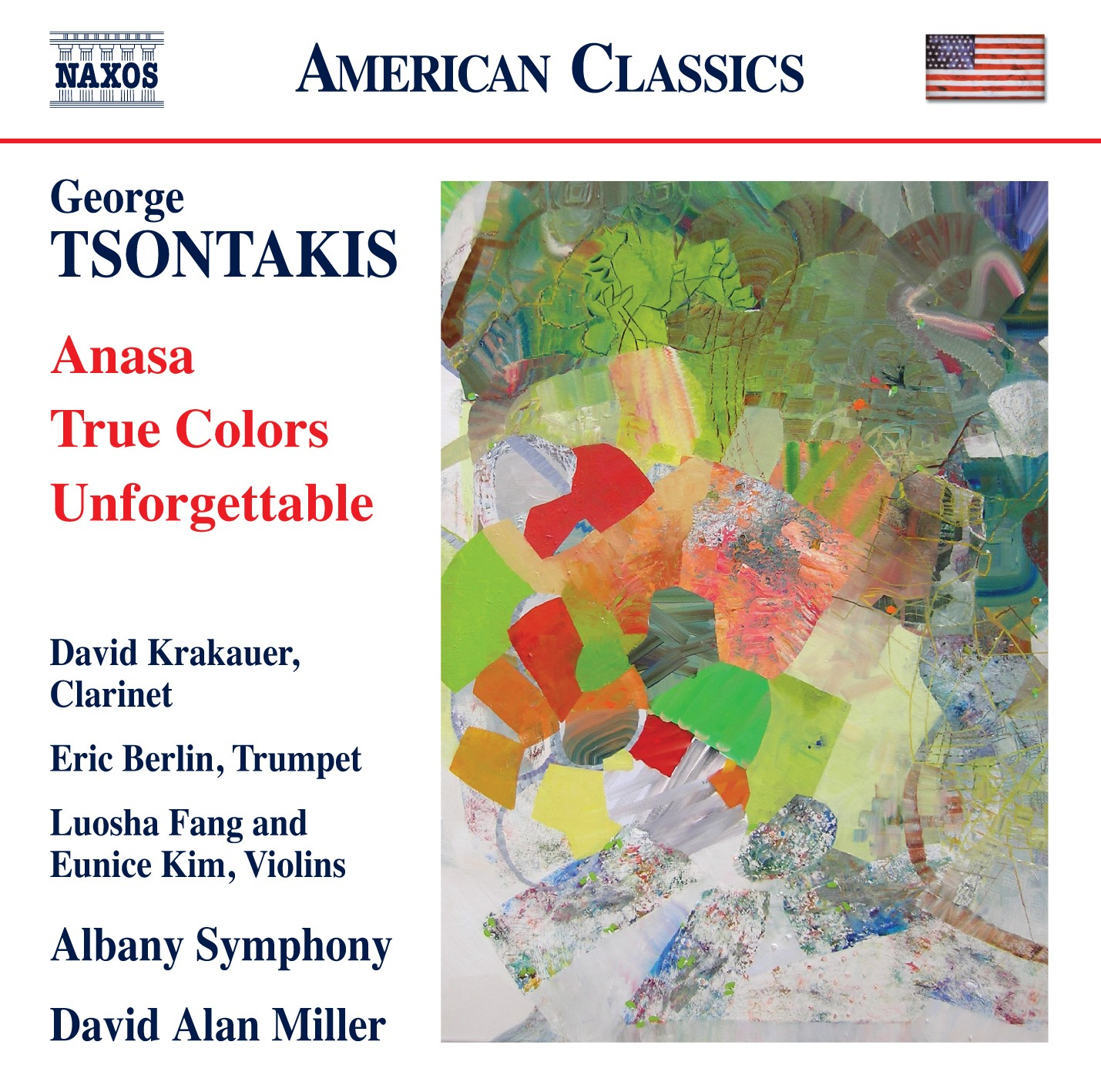 Naxos CD with Eric Berlin's True Colors