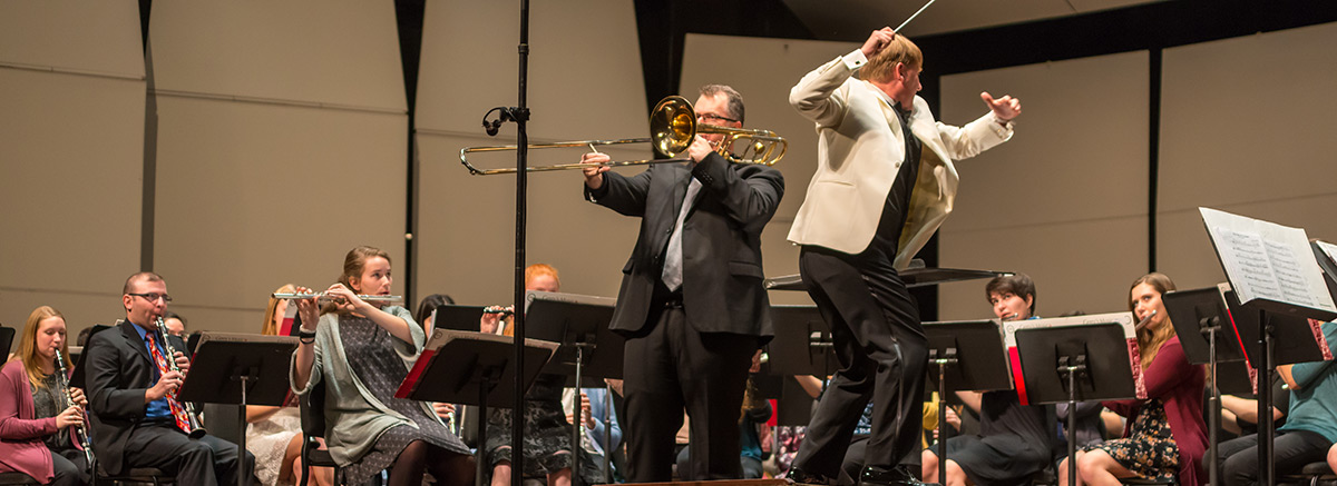 Concert Band, with Timothy Anderson, conductor; Greg Spiridopoulos, trombone