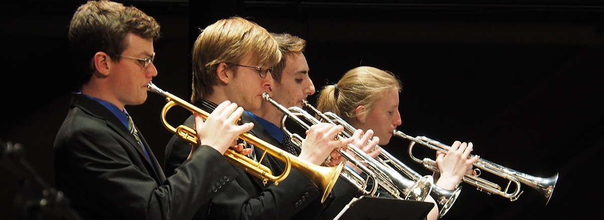 Ensemble trumpet section