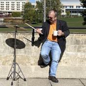 Tom Giampietro, jazz drum set