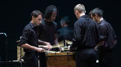 "UMass Amherst Percussion Ensemble  plays an excerpt from ""Extremes"" by Jason Treuting"