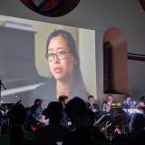 Felipe Salles Interconnections Ensemble with Tereza Lee on screen