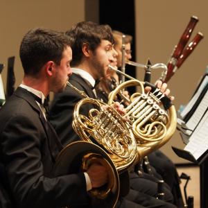 All University Orchestra wind players