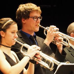 Chapel Jazz Ensemble trumpeters