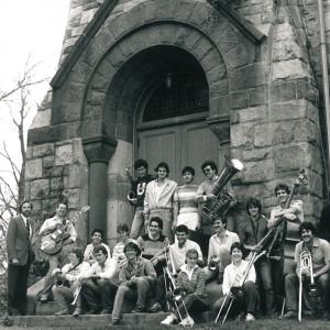 Dave Sporny (left) with Chapel Jazz in the 1980's