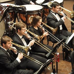 Wind Ensemble trombonists