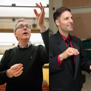 UMass choral conductors Tony Thornton & Stephen Paparo
