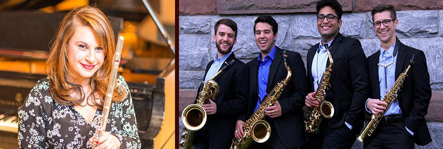 Emily Kaplan and the UMass Saxophone Quartet
