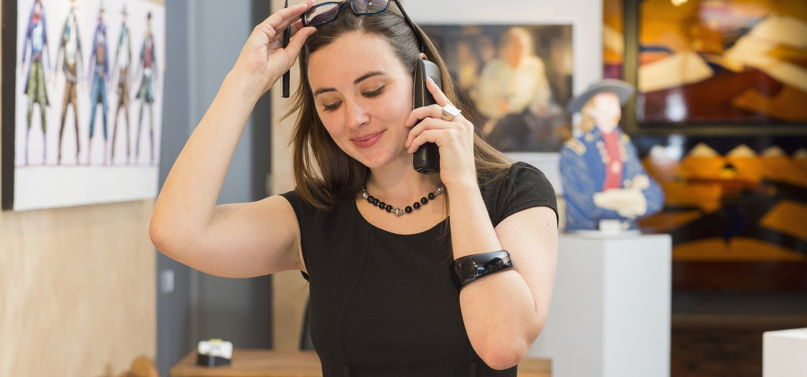 Woman making a business call