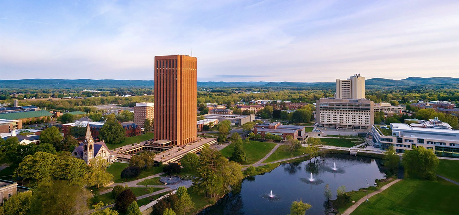 UMass Amherst Campus from above