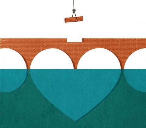 image of a heart and bricks