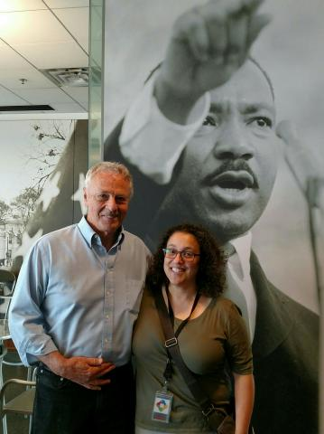 Morris Dees, co-founder and chief attorney for the SPLC and Linda Tropp