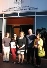 Linda Tropp and staff of the Australian Government Department of Immigration and Citizenship