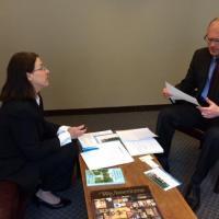 2015 Fellow Sylvia Brandt with Senator Jason M. Lewis (D-Winchester)