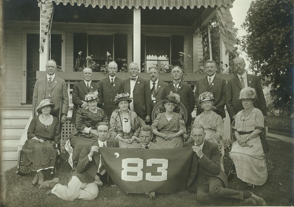 Class of 1883 at 40th reunion, ca. 1923