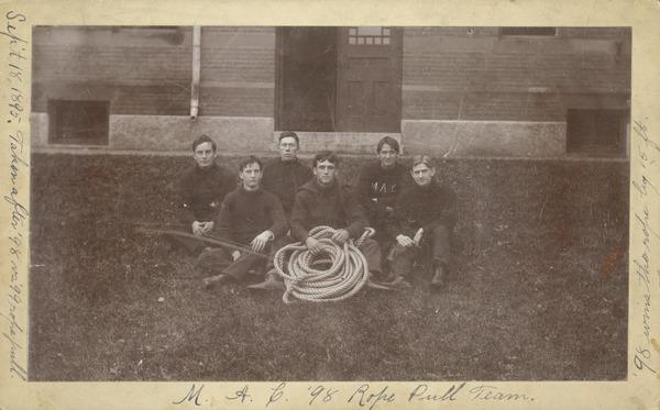 1898 rope pull team, September 18, 1895