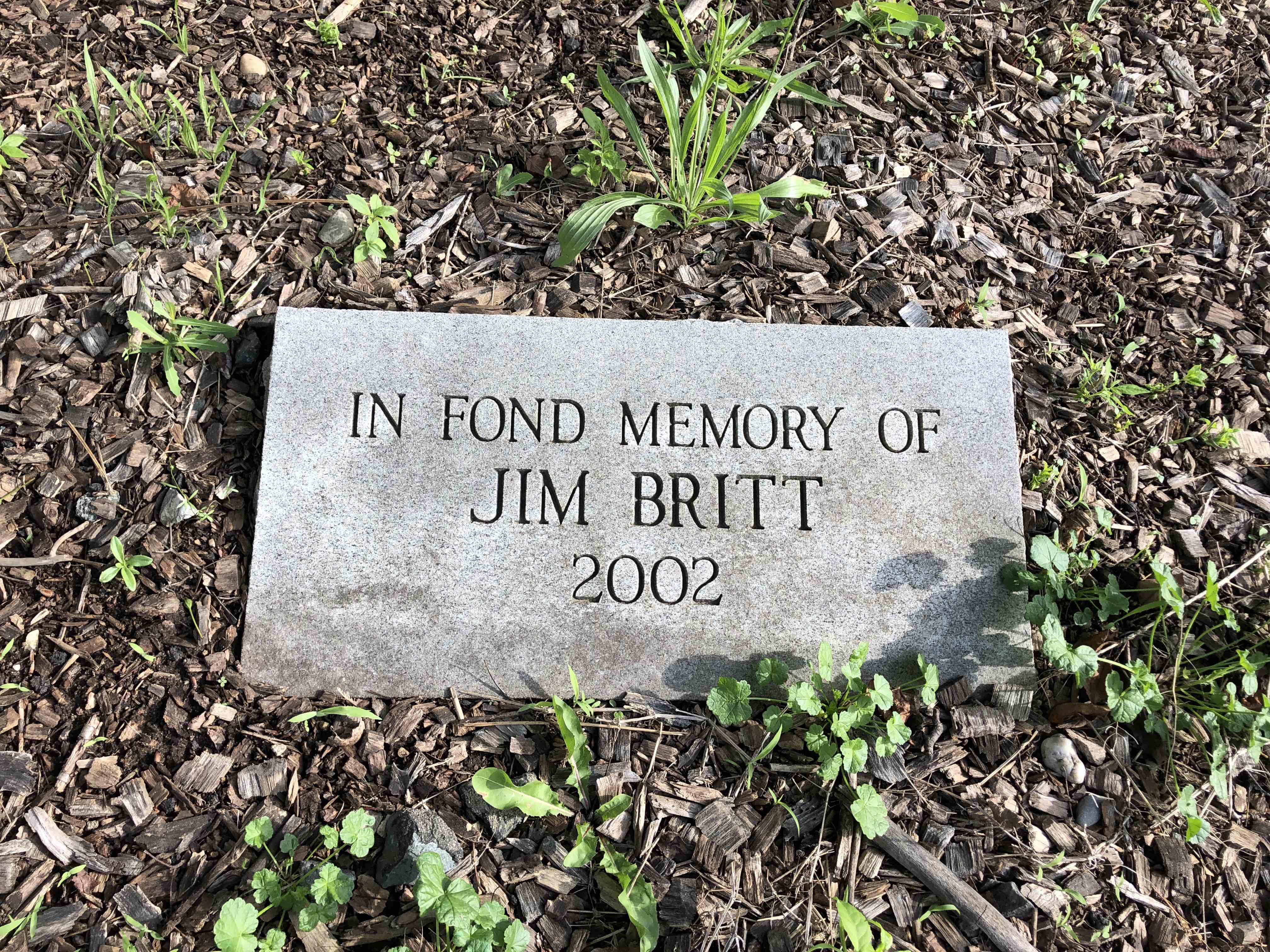 Jim Britt Tribute Marker