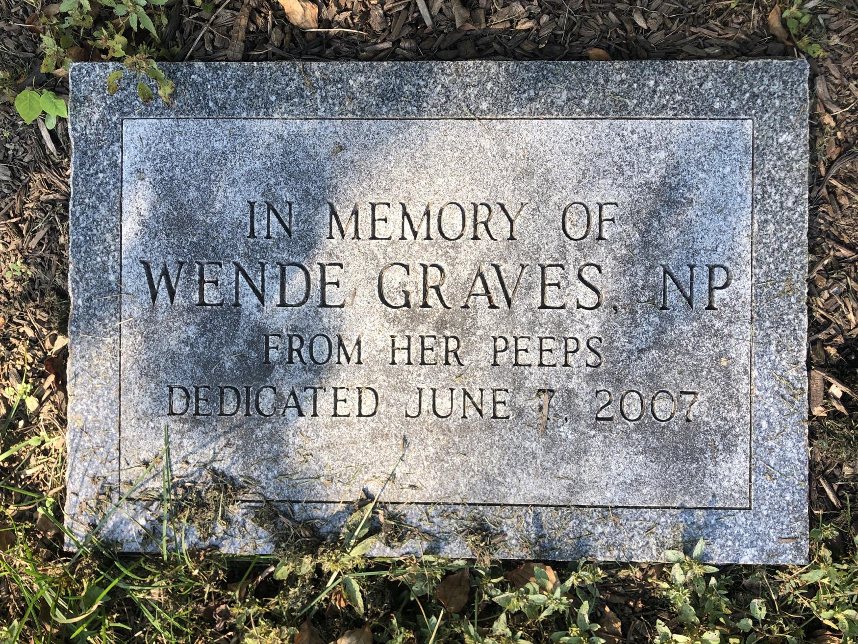 Wende Graves Tribute Tree Marker