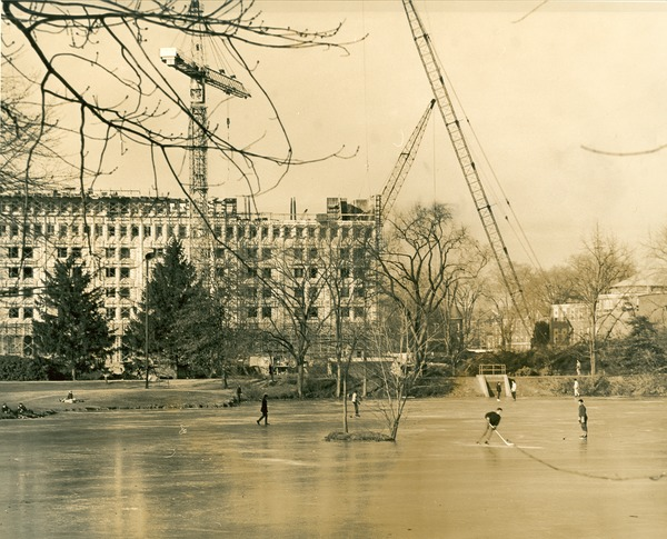 Campus Pond-Winter, 1960