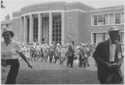 Class of 1918 reunion in front of Student Union, ca. 1958