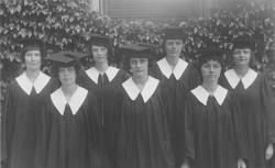 Barnes, Lincoln Wade. Class of 1923 women graduates, ca. June 1923. University Photograph Collection (RG 130). Special Collections and University Archives, University of Massachusetts Amherst Libraries