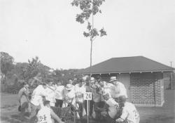 Class of 1924 planting class tree during reunion, June 1929