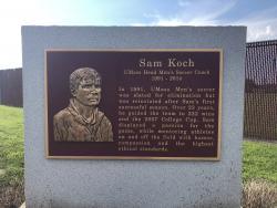 Sam Koch Tribute Plaque