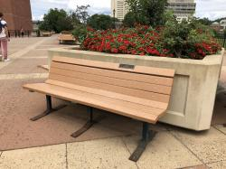 Q.T.V. Tribute Bench