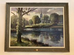 """""""Chapel and Pond,"""" 1929 MAC Class Gift"""