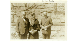 People in front of old chapel building 1945