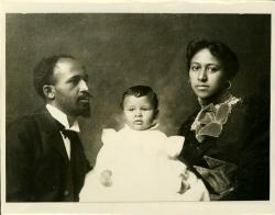 W. E. B. Du Bois, son Burghardt, wife Nina, 1898