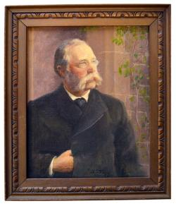 Henry Hill Goodell: half-length portrait with hand in coat, 1897