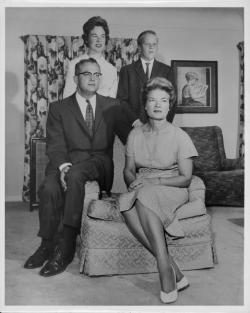 John W. Lederle, Angie Lederle, Pamela Lederle and Thomas Lederle, ca. 1960