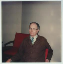 George A. Marston relaxing, 1977