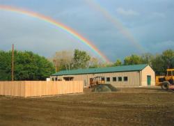 Double rainbow above the Joseph Troll Turf Research Center, UMass Amherst, 2005
