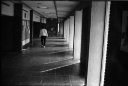 View down hallway in Thompson Hall, 1989