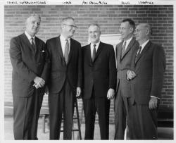 John W. Lederle, Shannon McCune, Albert W. Purvis and Gilbert L. Woodside, ca. 1965
