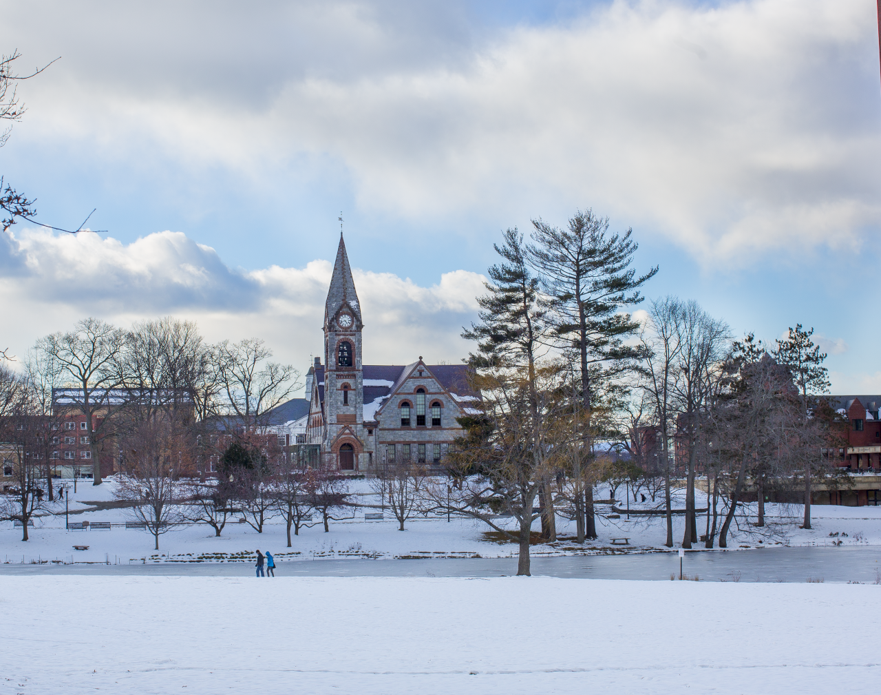 Winter view of campus