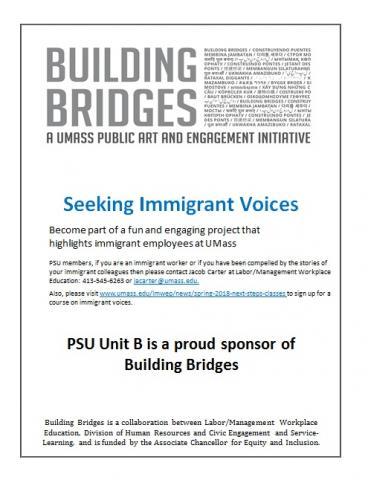 Building Bridges - Seeking Immigrant Voices