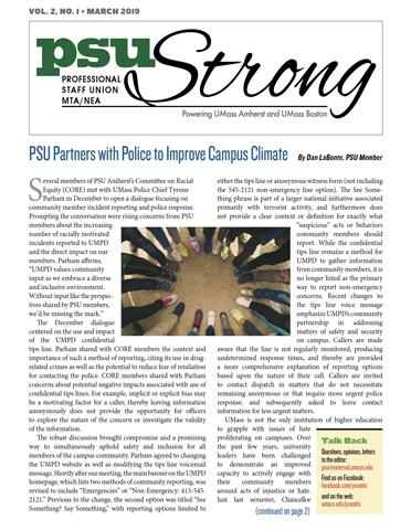 PSU Strong Newsletter - March 2019
