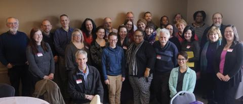50 PSU Amherst members gathered in February to brainstorm ways to make our union stronger